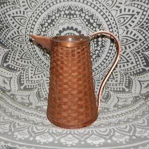 Longaberger Pitcher with Copper Handle and Spout